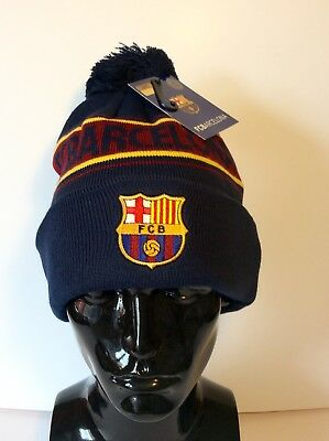 FC Barcelona Beanie / Bobble Hat. Officially Licensed Product. New