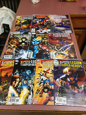 Supergirl and the Legion of Super Heroes DC Comic book Lot of 10 books