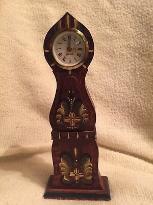 Mercedes Miniature Grandfather Clock made in Germany. Rosemaling. Not working Z3