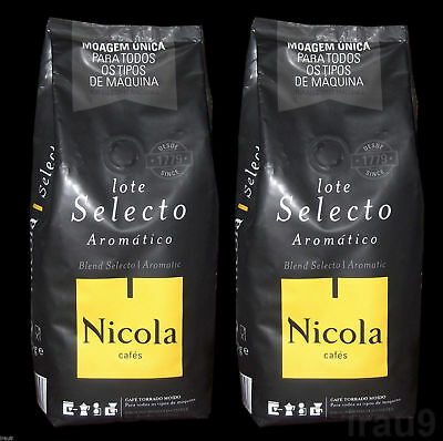 Portuguese Ground Coffee Aromatic (2x 250g) 1.1lb Portugal Nicola, all machines