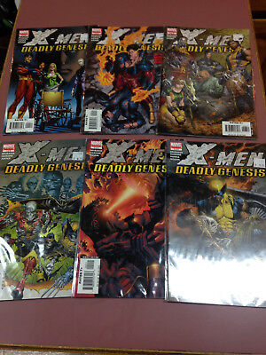 X-Men Deadly Genesis Comic Book Lot of 6, limited series 1 - 6, Marvel comics