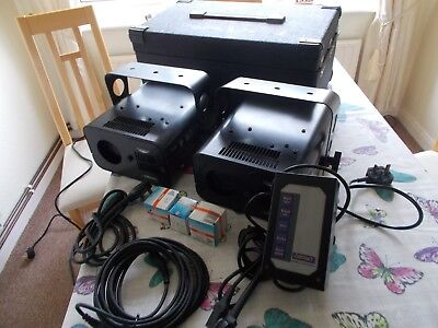Mobile Disco Lights Retro Abstract Twister 4 Pair + Case Bulbs And Controller