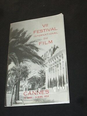 Rare Programme Du Vii 7 Eme Festival International Du Film Cannes 1954 Cinema