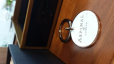 ASPINAL of LONDON Sterling Silver key ring