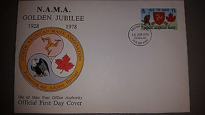 Golden Jubilee of the North American Manx Association Official First Day Cover