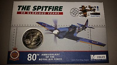 The Spitfire 60 Glorious Years Coin First Day Cover