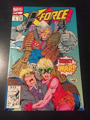 X-force#7 Incredible Condition 9.4(1992) Liefeld Art!!
