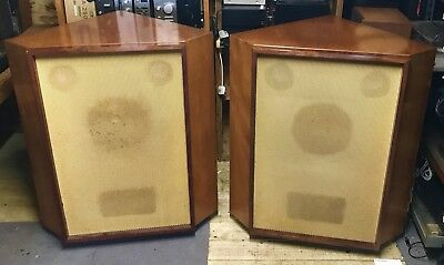 Stentorian Speakers In Beautiful Corner Cabinets Vintage