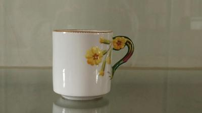 Enchanting Antique Porcelain Primrose Handle Coffee Can C 1873