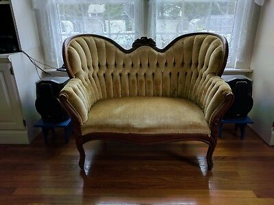 Victorian Wingback Love Seat Lot 277