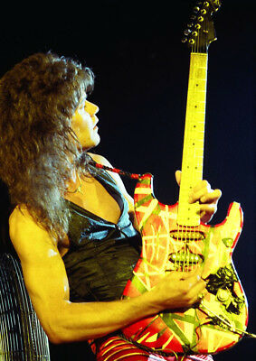 Art Art Posters Canvas Eddie Van Halen Plays Guitar In Concert Art Print Poster Edita Nc