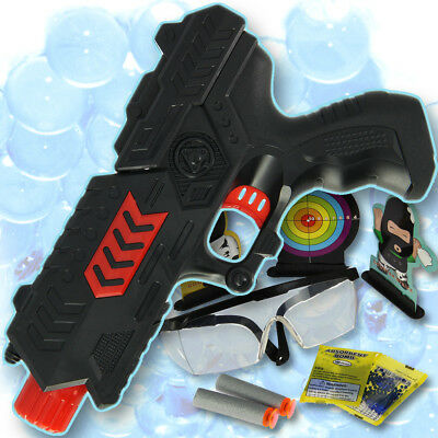2-in-1 Water Crystal Gel Soft & Foam Dart Shooting Kit Target Toy Gun For Kids