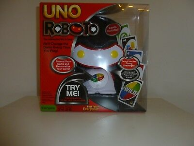 UNO Roboto Wild Card Interactive Talking Electronic Card Family Board Game - NEW