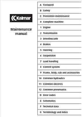Kalmar DRF 400-450 Maintenance Manual (0261)