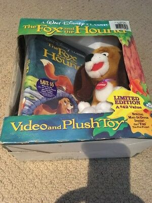 Walt Disney's The Fox And The Hound Video And Plush Toy Limited Edition