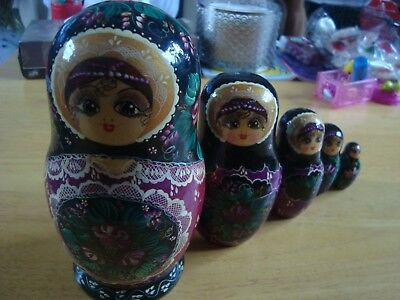 Russian Doll - Set Of Five - Nesting Doll - Signed