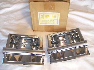Vintage Hall Mack Recessed Soap & Bar Polished Chrome  - Nos
