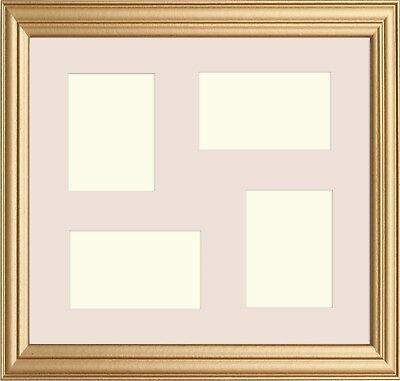 MULTI APERTURE GOLD Photo Picture Frame Antique Style With White ...