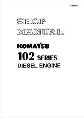 Komatsu 102 Series Engine Shop Manual (0263)