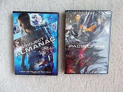 Set Of 2 Brand New! Dvd Movies... Project Almanac & Pacific Rim