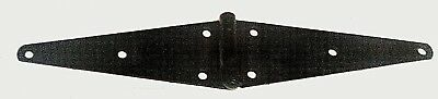 "Vintage 10"" Steel Black Gate Strap Hinge (Heavy Duty)"