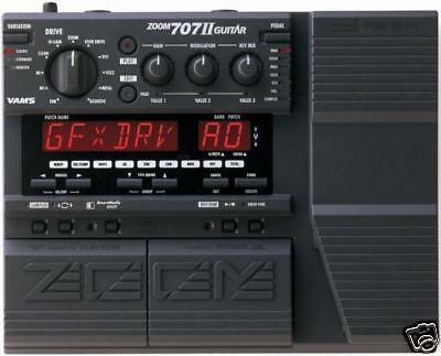 Zoom Gfx-707 Ii 11 2 Guitar Multi Effects Pedal & Power Supply