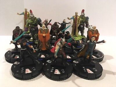 Heroclix Thor Ragnarok Movie Complete Hobby Common/Rare Gravity Feed Set 001-014
