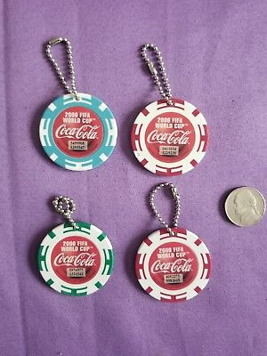 2006 FIFA World Cup Coca Cola Key Fob Coin Keychain Lot