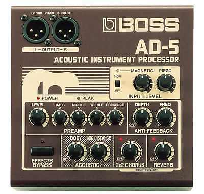 Boss Ad-5 Acoustic Instrument Effects Pedal Processor & Power Supply