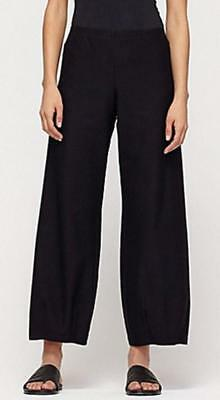EILEEN FISHER  Washable Stretch Crepe Ankle Lantern Pants BLACK 1X 2X 3X