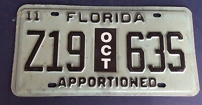 2011 Florida Apportioned License plate