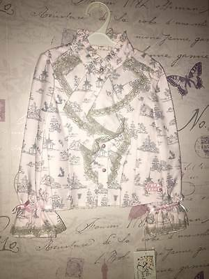 Little Darlings Pink Ruffle Romany Girl Party Top Blouse New Authentic 4 Year 5
