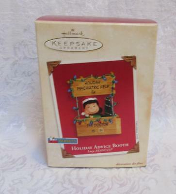 Hallmark Peanuts Lucy Holiday Advice Booth Gives Psychiatric Help 2003