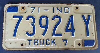 1971 INDIANA TRUCK License plate
