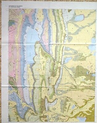 USGS CARTER LAKE RESERVOIR, COLORADO, GEOLOGIC MAP, Full Color Map & Sleeve 1988