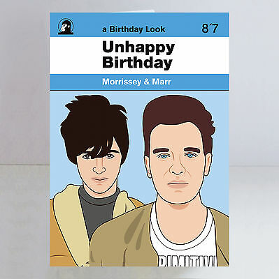Morrissey & Marr Ltd Edition A5 Birthday Card The Smiths Indie Johnny Marr