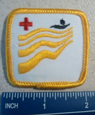 "Canadian Red Cross Water Safety Level Badge Patch 2"" Swimming - Yellow"