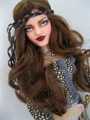 OOAK Repaint Barbie BOHO Beauty & the Beast Belle Art fashion Doll by Ashley