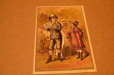 Trade Card Dunbarr Shoes Fine Boots & Shoes Fisherville