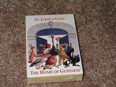 NEW St. James Gate The Home Of Guinness Deck Of Playing Cards Sealed NIP Beer
