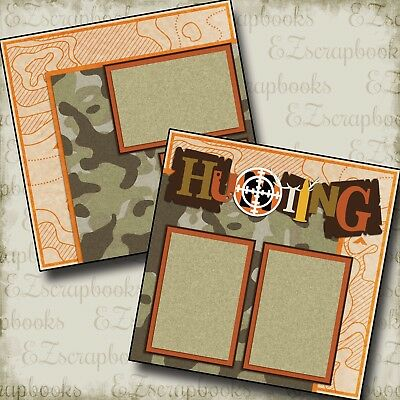 2 Premade Scrapbook Pages EZ Layout 2328 Cabin Life