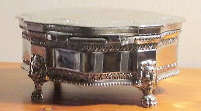 Vintage Silver Plated Jewelry Or Trinket Box