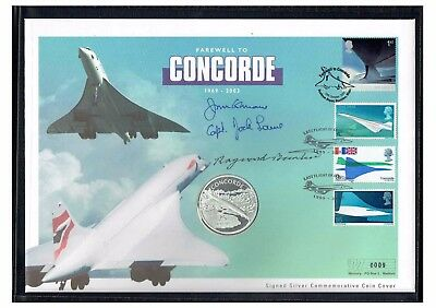 #237 Concorde Last Flight $25 coin cover SIGNED Special Westminster Edition