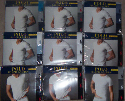New Mens 3-Pack POLO Ralph Lauren T-Shirt Slim or Classic Fit V or Crew Neck $39