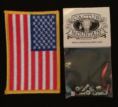 12 New Pin Keepers / Biker  Pin Locks American Flag Patch USA Seller Quick Ship!