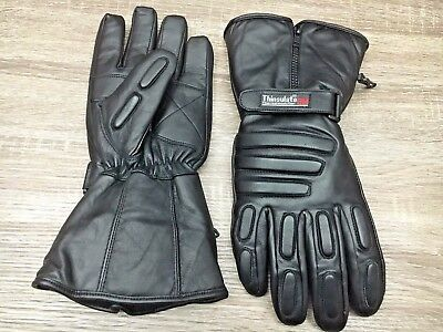 Black Ash Ba20 Motorcycle Winter Thinsulate Hipora Leather  Riding Gloves  2Xl