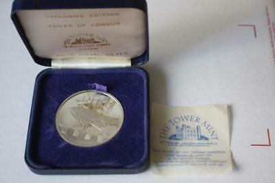 Tower Of London The Tower Mint Solid Nickel Silver Commemorative Medal Coin