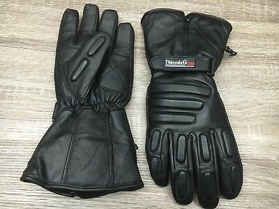 Black Ash Ba20 Motorcycle Winter Thinsulate Hipora Leather  Riding Gloves M