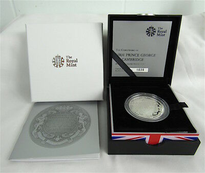 Great Britain 2013 Christening Of Prince George 5 Pound Silver Proof In Case