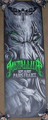 METALLICA concert gig poster PARIS FRANCE 9-8-17 2017 Tour maxx242